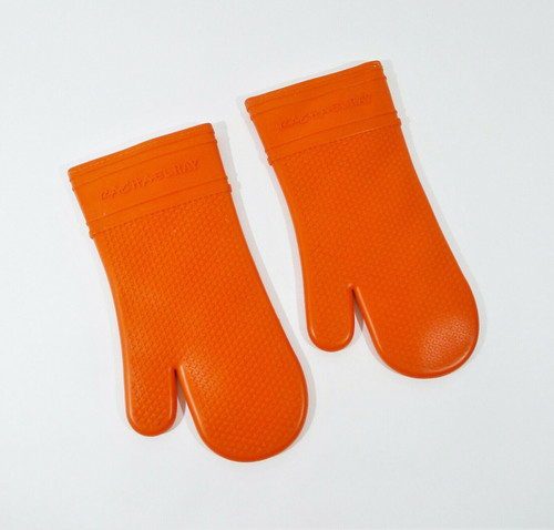 2pk Rachael Ray Silicone Oven Mitts Heat Resistant Silicone Oven Gloves