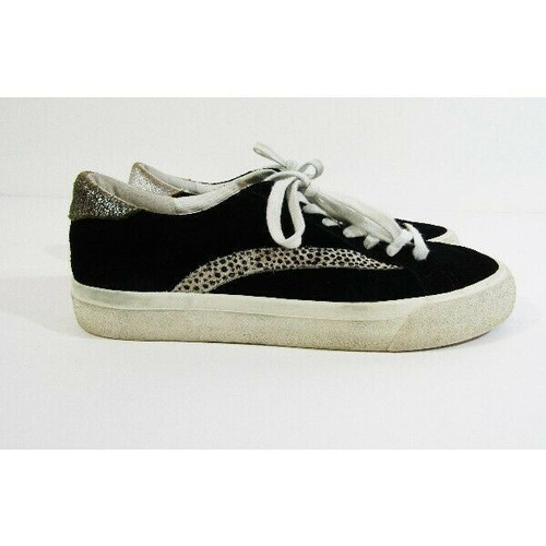 Madewell Women's Black Low-Top Animal Print Sneakers Size 8.5M