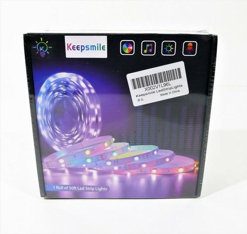 Keepsmile LED Strip Lights 50' Smart Sync Music Led Lights - NEW SEALED