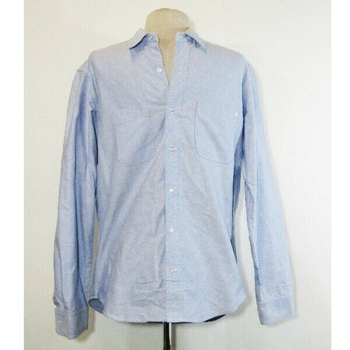 Baldwin Kansas City, USA Men's Light Blue Casual Button Down Shirt Size Large