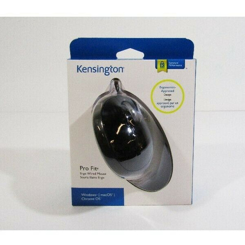 Kensington Pro Fit Ergo Wired Mouse for Windows, MacOS, Chrome OS **NEW**