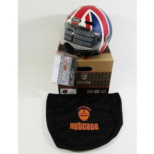 Nutcase Moto Union Jack Matte Half Shell Helmet Size M, DOT, ECE **NEW IN BOX**