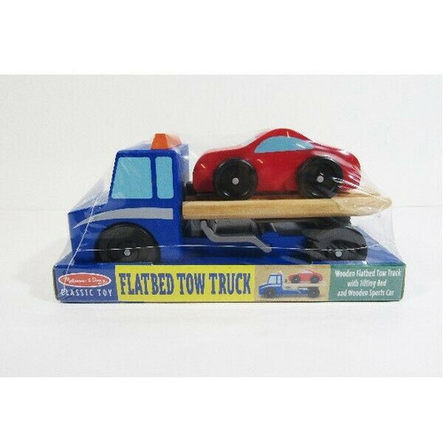 Melissa & Doug Classic Flatbed Tow Truck Toy Ages 3+ **NEW IN PACKAGE**