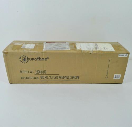 Eurofase One Light Pendant in Chrome Micro Collection 22960-016  **OPEN BOX