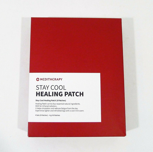 Meditherapy Stay Cool Healing Patch 4 Sets (8 Patches) - NEW SEALED