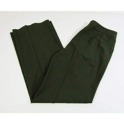 St. John Women's Forest Green Santana Knit Pants Size 10