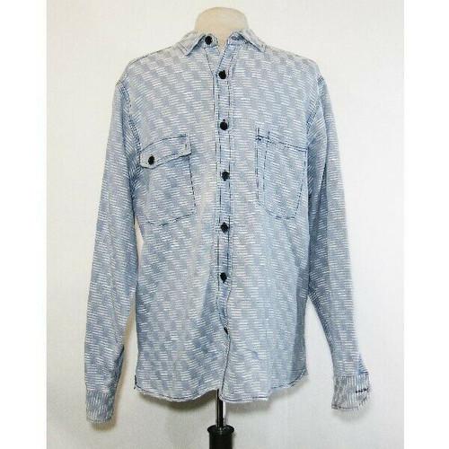 Taylor Stitch Men's Blue & White Stitched Casual Button Down Shirt Size 42