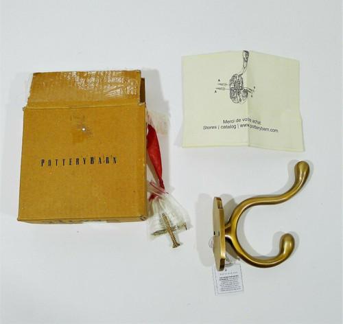 Pottery Barn Covington Single Towel Hook in Brass 876875 - OPEN BOX