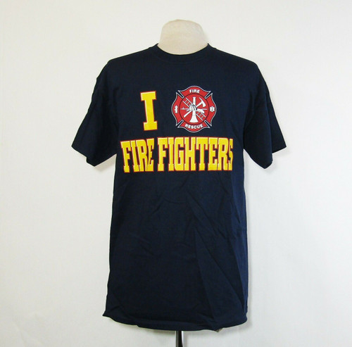 I Heart Firefighters Unisex Short Sleeve T-Shirt Size Large **NEW IN PACKAGE**