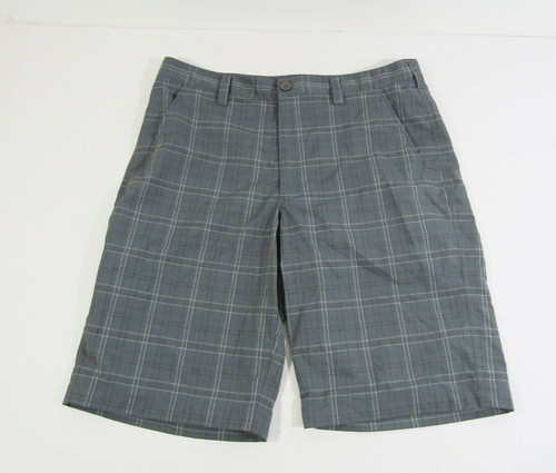 Under Armour Men's Dark Gray Plaid Lightweight Shorts Size 36
