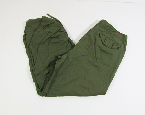 Tommy Hilfiger Women's Army Green Cropped Cargo Pants w/ Pockets Size 10