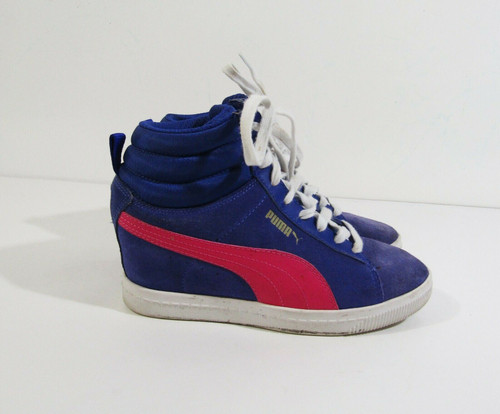 Puma Women's Purple & Pink Classic Wedge Sneakers Size 6 **HAS SCUFF MARKS**