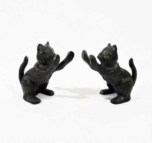 Ambipolar Antique Black Cat Decorative Bookend Heavy Duty Cast Iron - OPEN BOX