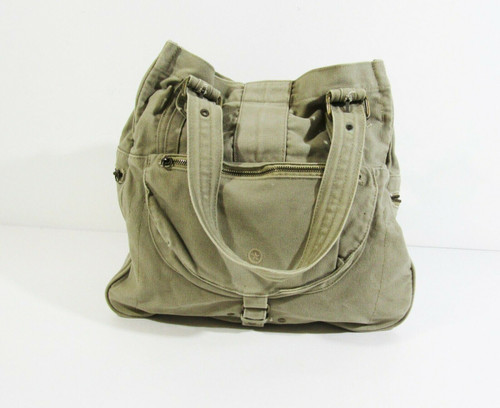 Converse One Star Khaki Military Canvas Bag  **MISSING 2 ZIPPER PULLS**