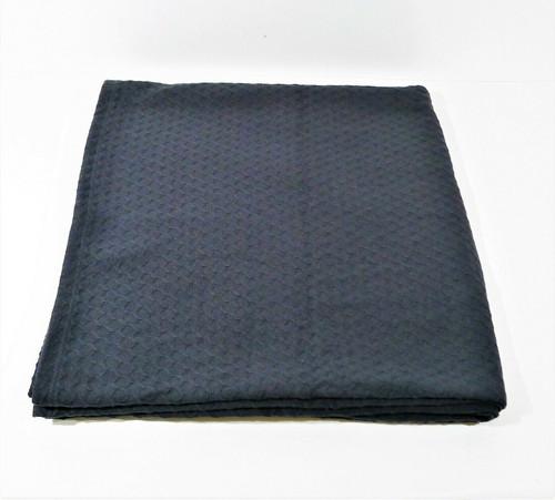 "CB2 Black Waffle Weave Full/Queen Blanket 90"" x 90"" **SEE DESCRIPTION"