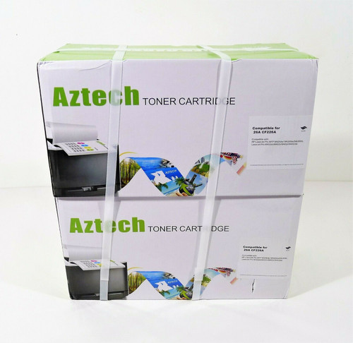 2 Aztech Compatible Toner Cartridge Replacement for HP 26A CF226A - NEW SEALED