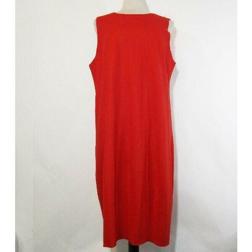 Eileen Fisher Women's Red Sleeveless 100% Wool Dress Size XL, NWT **HAS A HOLE**