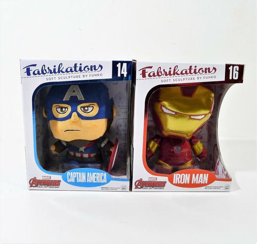 Set of 2 Funko Fabrikations - Captain America 14 and Iron Man 16 - NEW *BOX WEAR