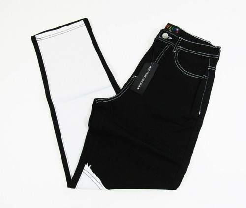 Delia's by Dolls Kill Women's Black & White Yin Yang Twill Pants Size S **NWT**