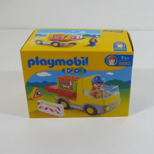 Playmobil 123 Construction Truck Set Ages 1 1/2+ #6960 *NEW*