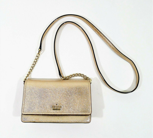 Kate Spade Small Rose Gold Leather Crossbody Purse - SCUFFING **SEE DESCRIPTION