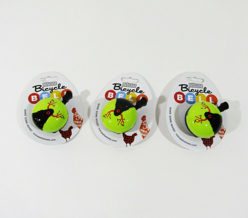 Nutcase Set of 3 Matching Little Monster Bicycle Bells **NEW IN PACKAGE**