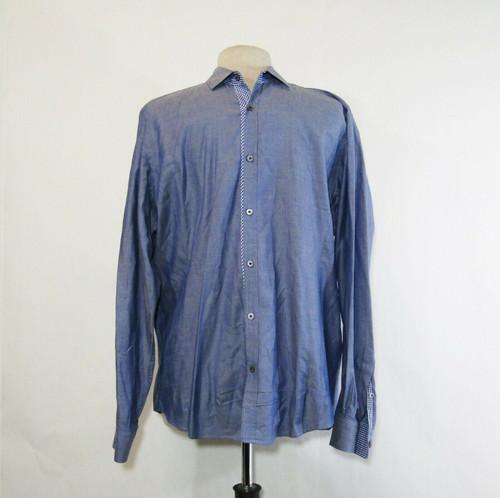 Ted Baker London Men's Blue Long Sleeve Button Down Dress Shirt Size 4