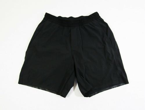 Lululemon Men's Black Unlined Activewear Shorts Size S **FRAYED ON BOTTOM