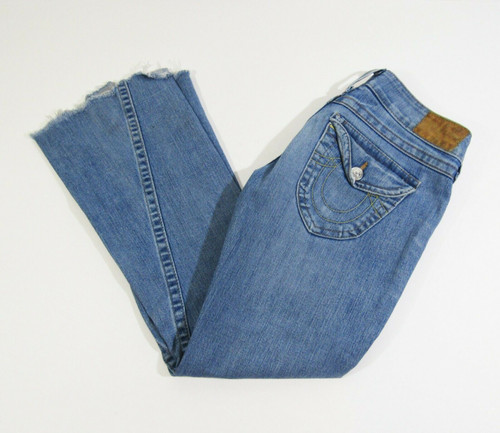 True Religion Women's Light Wash Bootcut Jeans Size 29 **CUT AT BOTTOM**