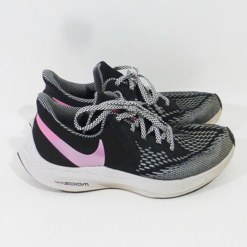 Nike Zoom Winflo 6 Women's Black White & Pink Running Shoes Size 8 CN2153-001