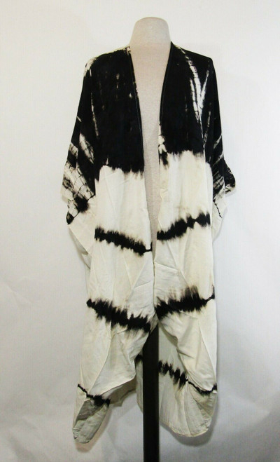 Shu-Shi Women's Black & White Tie-Dye Swimsuit Cover, One Size, Plus Size **NWT*