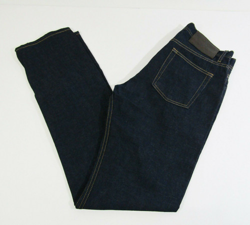 Naked & Famous Men's Dark Wash Featherweight Dungaree Selvedge Jeans Size 33