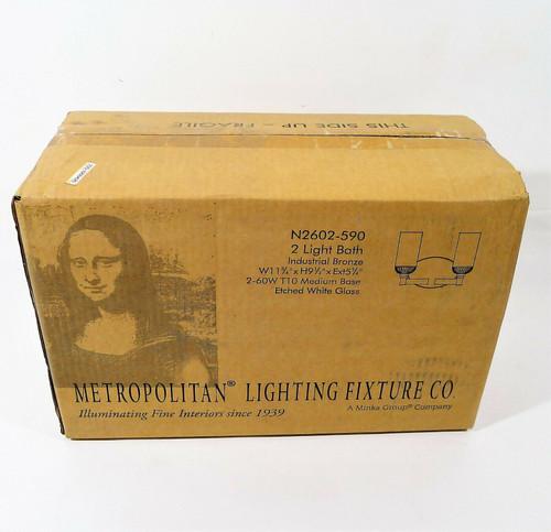 Metropolitan N2602-590 Industrial 2 Light Industrial Bronze Bath Bar Wall Light