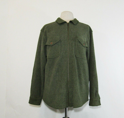 L.L. Bean Men's Green Fleece Full Zip Jacket Size Medium-Regular