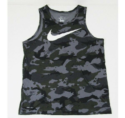 Nike Dri Fit Men's Camouflaged Activewear Tank Top Size Large