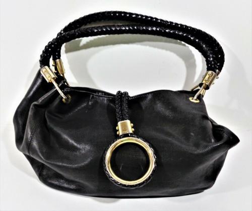 Michael Kors Black Leather Hobo Style Shoulder Bag
