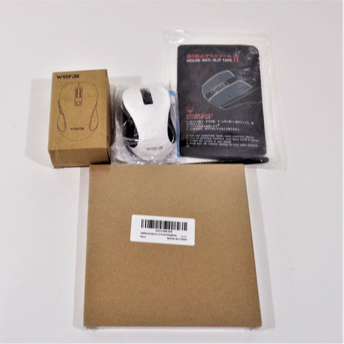 WisFox Wireless Mouse, Ethernet Cable, & Mouse Anti- Slip Tape *NEW*