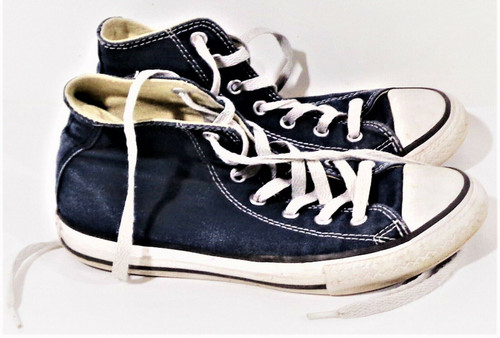 Converse Chuck Taylor All Star High Top Sneakers Kids' Size 2 in Navy 3J233