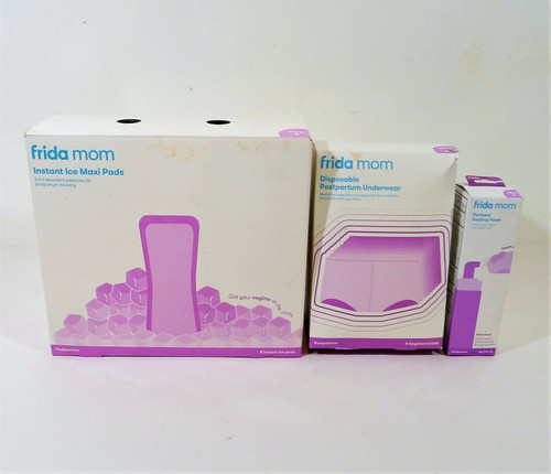 Set of 3 Frida Mom Postpartum Products *Foam, Underwear & Pads *NEW **BOX WEAR