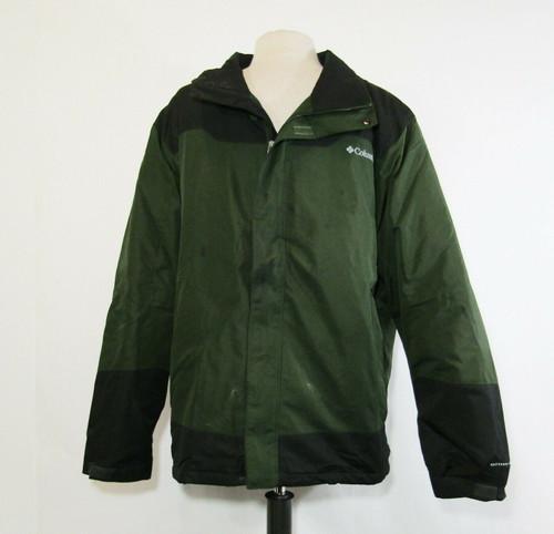 Columbia Omni-Shield Men's Green & Black Full Zip Jacket Size L ***Has Stains