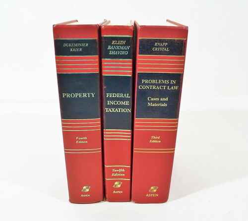 Set of 3 Aspen Law & Business Hardback Books - Federal Income Taxation and More