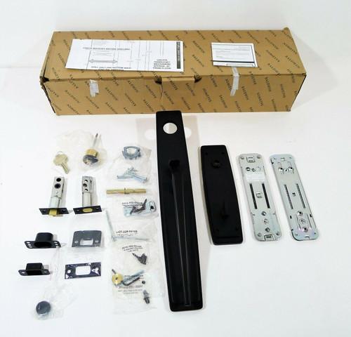 Baldwin - 85397.190.ENTRX - EE SET LESS LVR 190 in Satin Black - *OPEN BOX