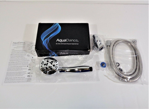 "AquaDance High Pressure 6-Setting 3.5"" Chrome Showerhead *New, Open Box*"