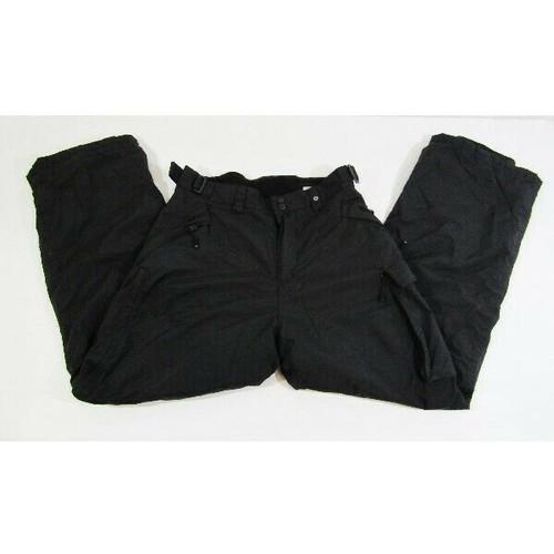 Polar Edge Silver Series Men's Black Water Resistant Ski Pants Size Large
