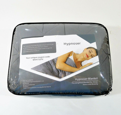 """Hypnoser Gray 78"""" x 85"""" King Size 17lbs Weighted Blanket  AH-7885-17B-GM - **NEW"""