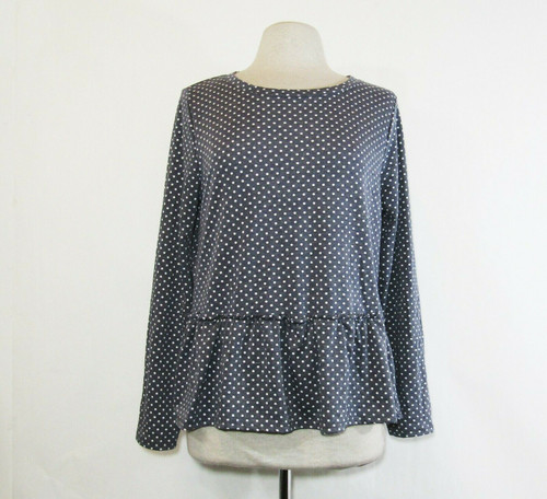 Green Envelope Women's Long Sleeve Polka Dot Blouse Size XL **NEW WITH TAGS**