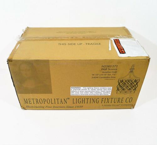 Metropolitan Vel Catena Two Light Wall Sconce N2582-272 - **OPEN BOX