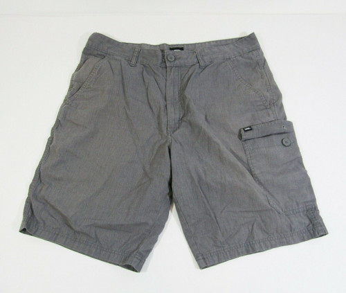 Vans Men's Gray Casual Cargo Shorts Size 36 **Has Small Stain**