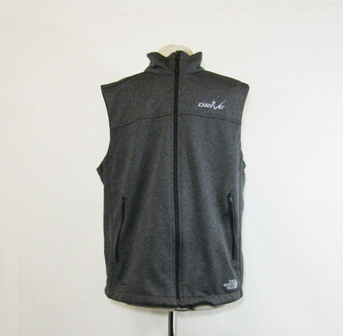 The North Face Men's Dark Gray Customized Full Zip Vest Size Large **See Descr.