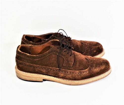 Rancourt & Co. Brown Suede Derby Dress Shoes Men's Size 8.5